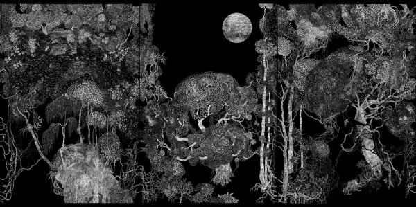 « Forêt – éclairage nuit » par Belem Julien et Mathieu Schmitt