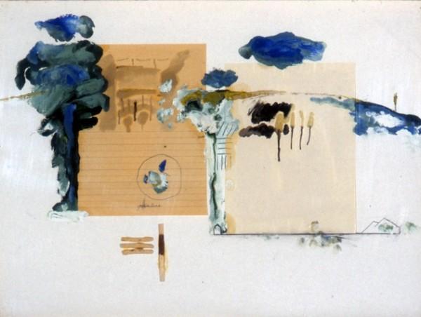 Stéphane Hazera - Technique mixte sur papier - 60x80 - 1996
